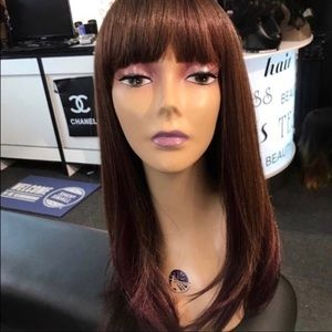 Wig with bangs